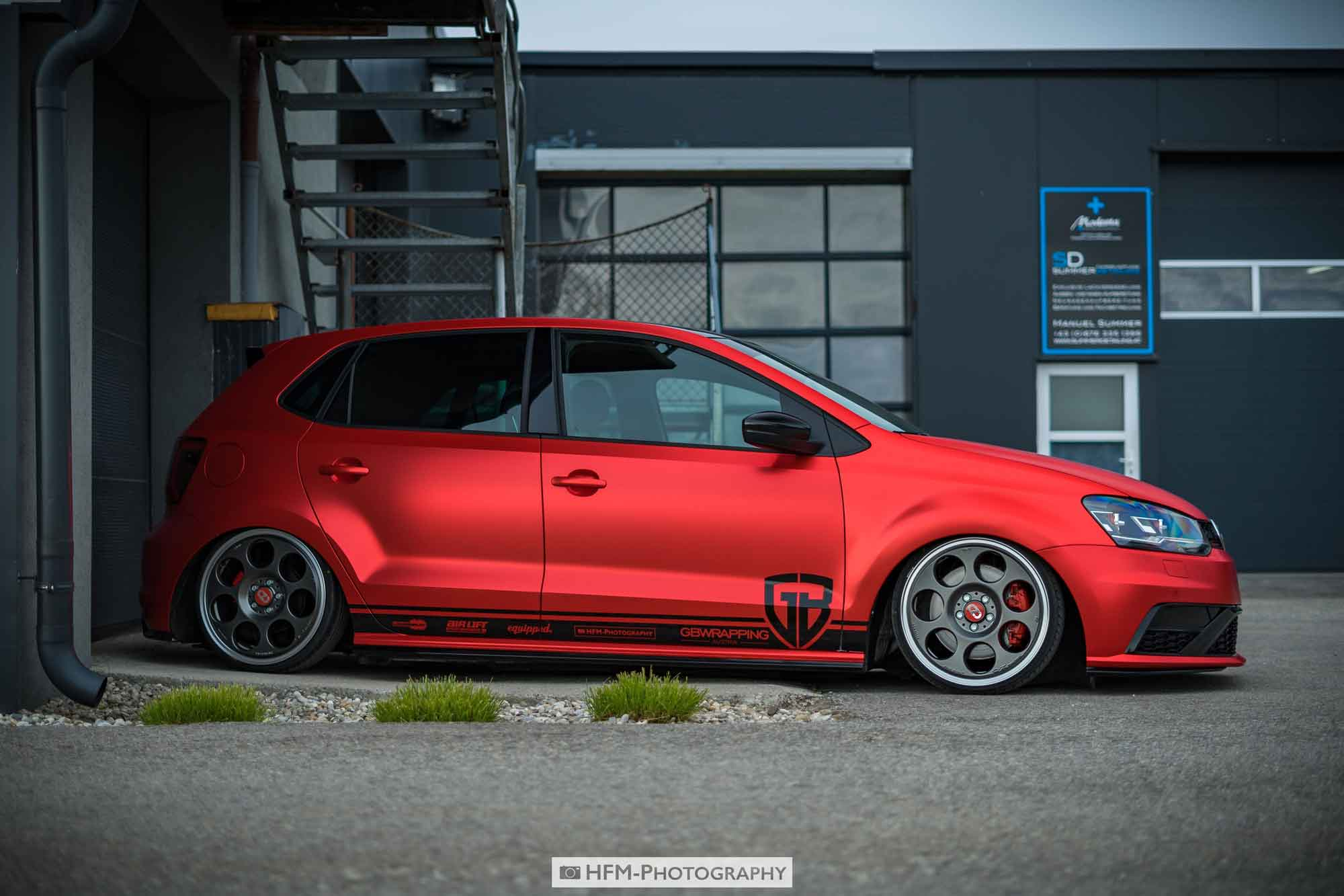 VW Polo GTI ''red chrome matt''