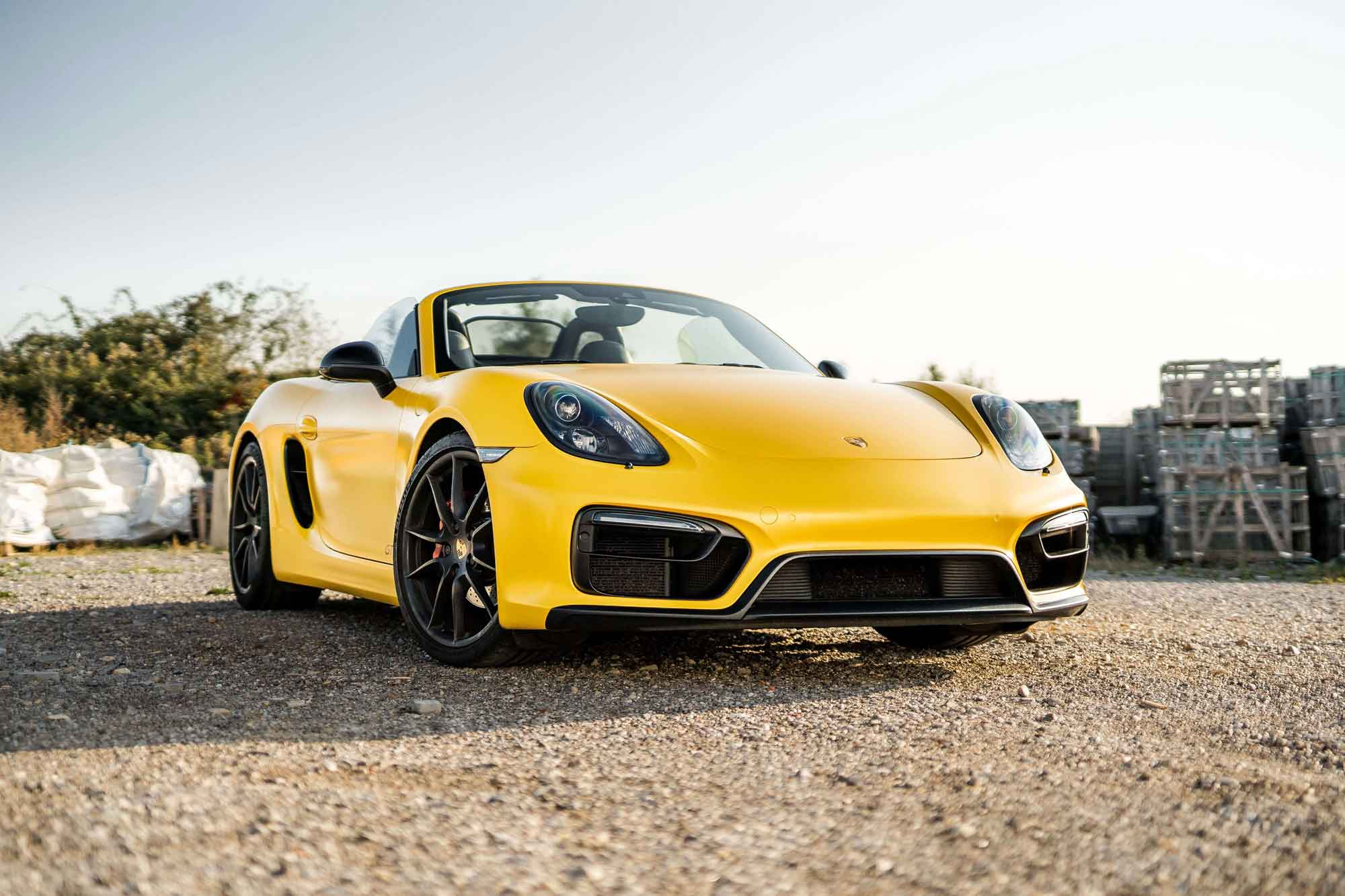 Porsche Boxster GTS Hornet Yellow GBwrapping