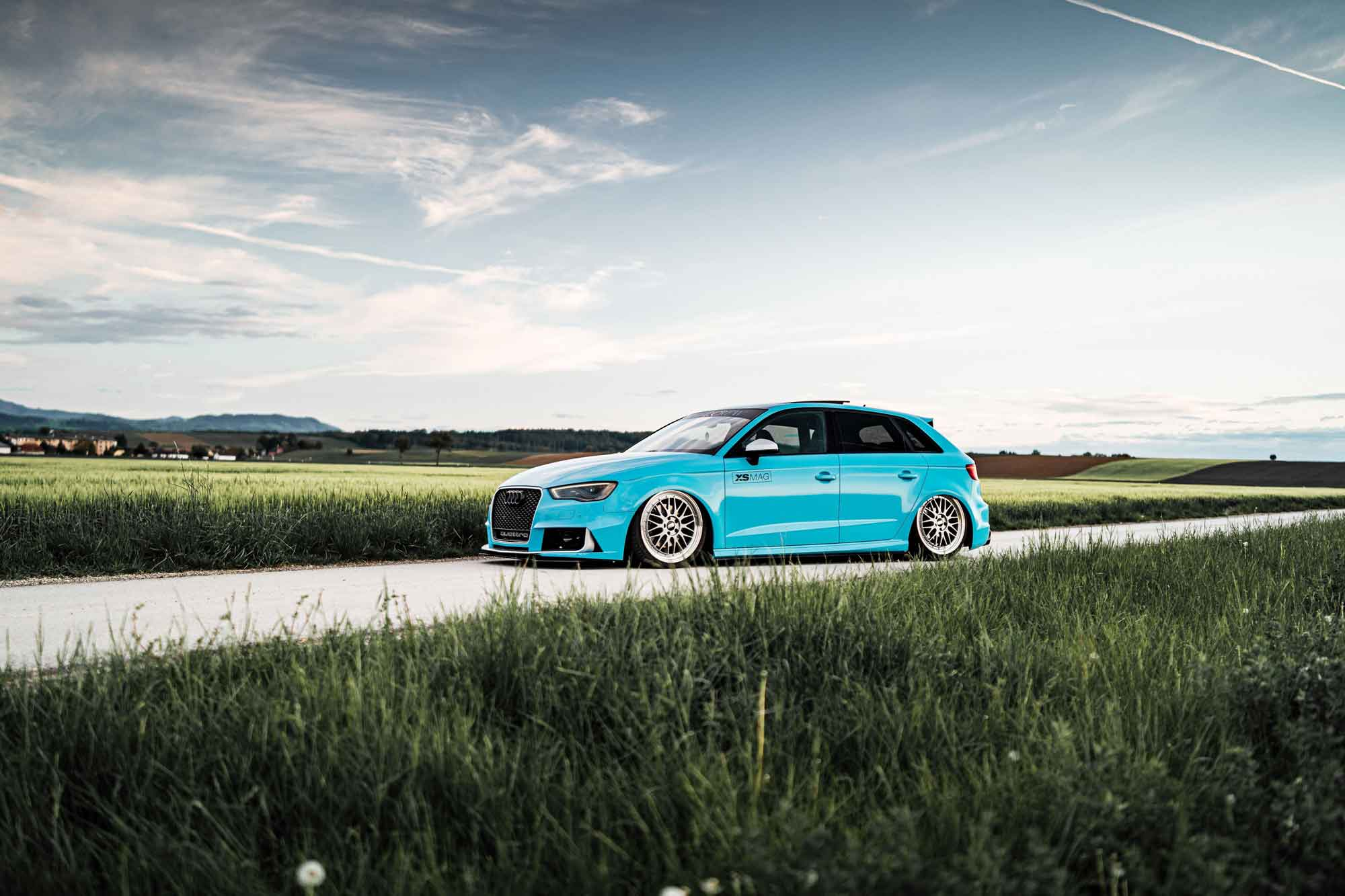 Audi RS3 Miami Blue GBwrapping