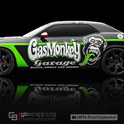 Wall-of-FameDodge-Challenger-Gas-Monkey-GB-Wrapping-Folierung-Design